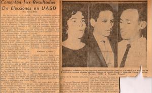 Reporte periodístico sobre las primeras elecciones estudiantiles libres que celebró la universidad